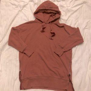 aerie fall zip-side sweatshirt